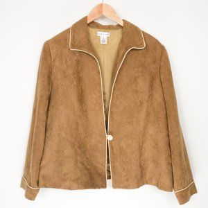 Jacket with Camel Exterior & Beige Lining